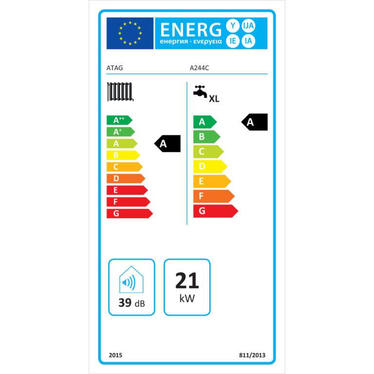 energielabel atag a244c hr combiketel